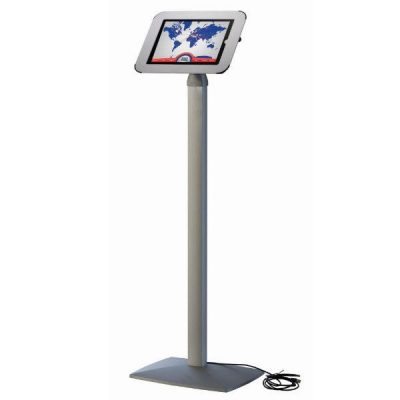 iPad Stand Fixed Height with White Aluminum Top Cover, iPad 2, 3, 4