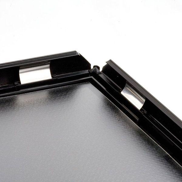 11x17 opti frame 1 black profile mitered corner without back support. Black Bedroom Furniture Sets. Home Design Ideas