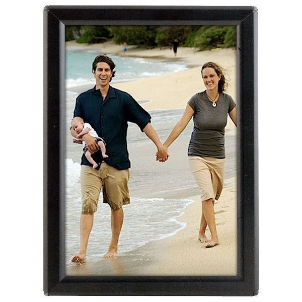 """Opti Frame 5"""" x 7"""" 0.55"""" Black Mitered Profile, Without Back Support"""