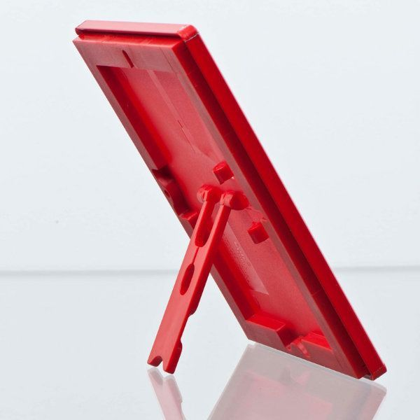 Opti Frame 5x7 055 Red Profile Mitered Corner With Back Support