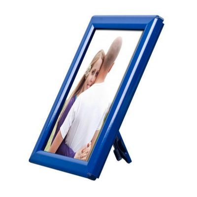 "Opti Frame 5"" x 7"" 0,55"" Blue Mitred Profile With Back Support"