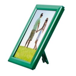 "Opti Frame 5"" x 7"" 0,55"" Green Mitred Profile, With Back Support"