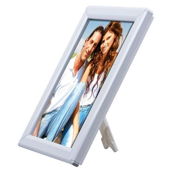 "Opti Frame 5"" x 7"" 0,55"" White Mitred Profile With Back Support"