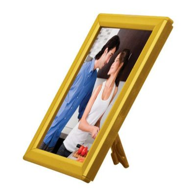 "Opti Frame 5"" x 7"" 0,55"" Yellow Mitred Profile With Back Support"