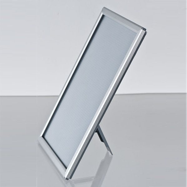 "Opti Frame 8"" x 10"" 0,55"" Silver Mitred Profile With Back Support"