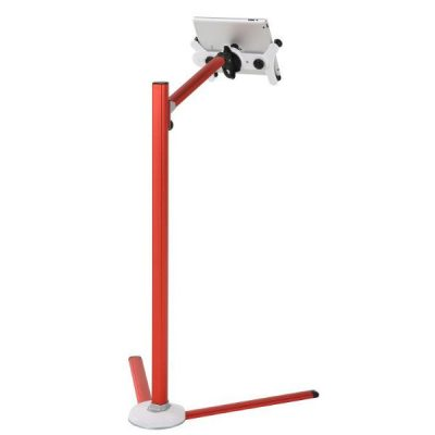 Red Floor Tablet Stand for iPad 2, 3, 4. 360 Degree Rotatable