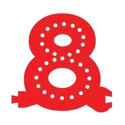 Smart Led Letter 8 Red Color