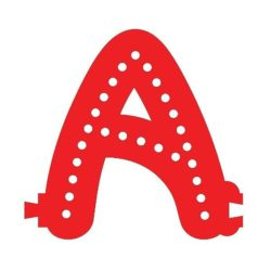 Smart LED Letter A Red Color