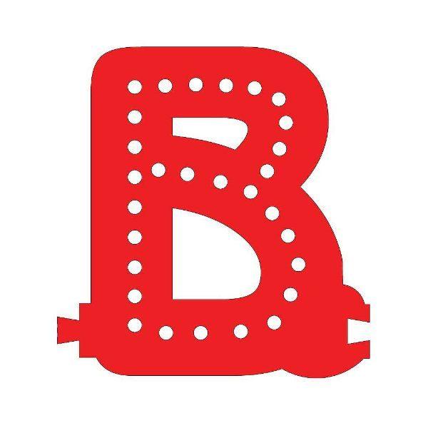 Smart Led Letter B Red Color