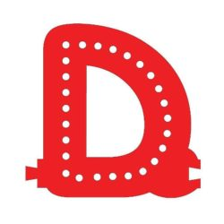 Smart Led Letter D Red Color