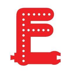 Smart Led Letter F Red Color