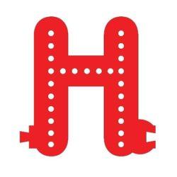Smart Led Letter H Red Color