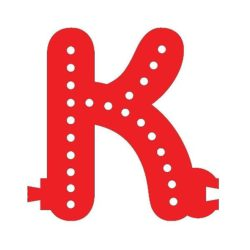 Smart Led Letter K Red Color