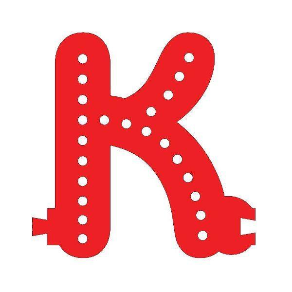 Smart Led Letter K Red Color