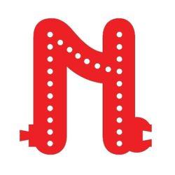 Smart Led Letter N Red Color