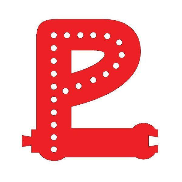 Smart Led Letter P Red Color