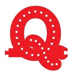 Smart Led Letter Q Red Color