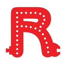 Smart Led Letter R Red Color