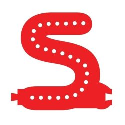 Smart Led Letter S Red Color