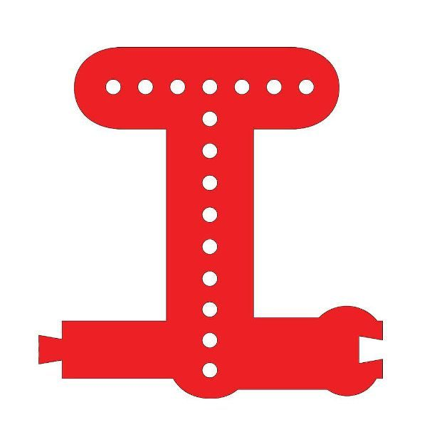 Smart Led Letter T Red Color