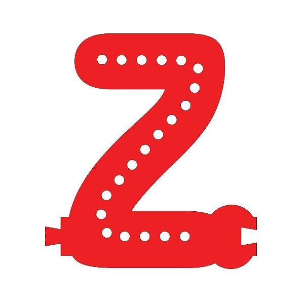 Smart Led Letter Z Red Color