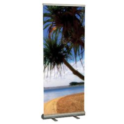 "Smart Roll Banner 31-1/2"" Silver Aluminum, Adjustable Banner Height"