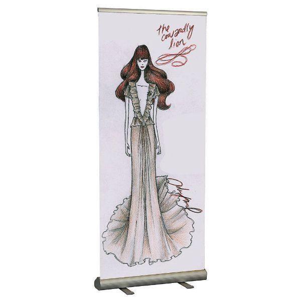 "Smart Roll Banner 35- 9/20"" Silver Aluminum, Adjustable Banner Height"