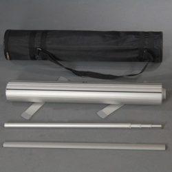 "Smart Roll Banner 39-3/8"" Silver Aluminum, Adjustable Banner Height"