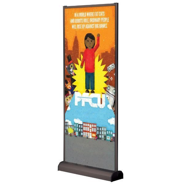 Wall Banner 31.5 x 78.75 Black Anodized