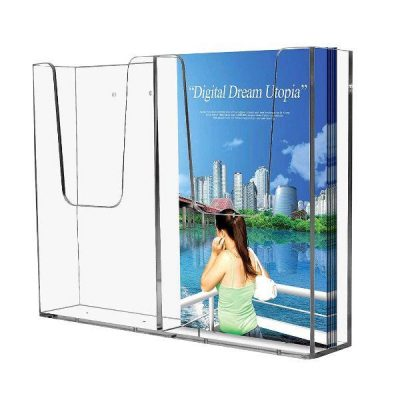 "Wall Mount Brochure Holder 4""w x 6""h 2 Pocket, Wall Mount"