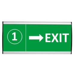 "Wall Sign 9""w x 4-3/16""h Arc Cap Silver"