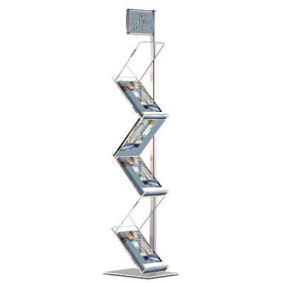 "Zig-Zag Lite 6 x (8.5"" x 11"") Single Pole Stand With Header"