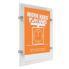 Wall Mount Clear Acrylic Frame
