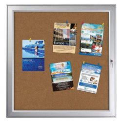 "12 x (8.5"" x 11"") Premium Enclosed Cork Bulletin Board Outdoor Use"