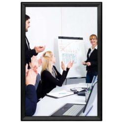 20x30 Snap Poster Frame - 1.25 inch Black Profile, Safe Round Corner