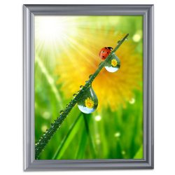 22x28 Fancy Snap Poster Frame - 1.58 inch Silver Color Mitered Profile