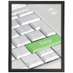 22x28 Lockable Snap Poster Frame - 1.25 inch Black Color Profile