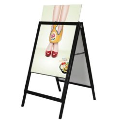 22x28 Slide-In A Frame Board Black Sidewalk Sign