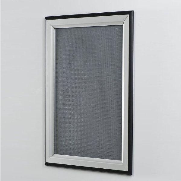 24x36 double color snap poster frame inch black silver profile. Black Bedroom Furniture Sets. Home Design Ideas