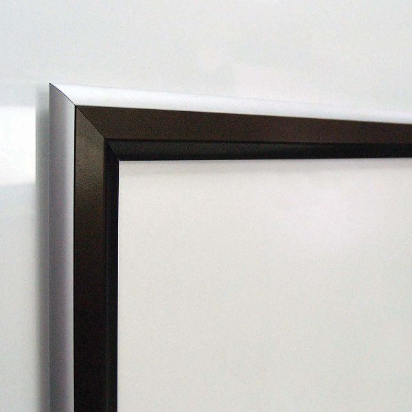 24x36 Double Color Snap Poster Frame - 1.58 inch Black-Silver Profile