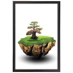 24x36 Lockable Snap Poster Frame - 1.25 inch Black Color Profile