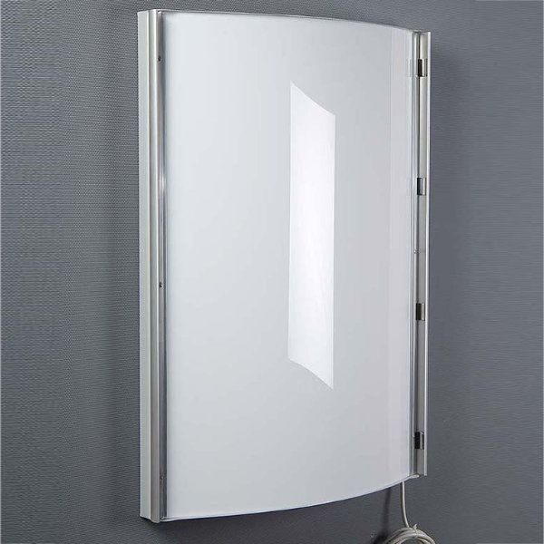 "30""w x 40""h Convex Poster Light Box Silver Single Sided"