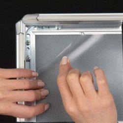 30x40 A Frame Board Silver Aluminum Sidewalk Sign Galvanised Backing