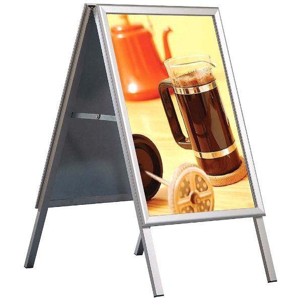 30x40 A Frame Board Silver Aluminum Sidewalk Sign Galvanised Backing
