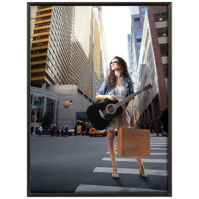30x40 Snap Poster Frame - 1 inch Black Mitred Profile