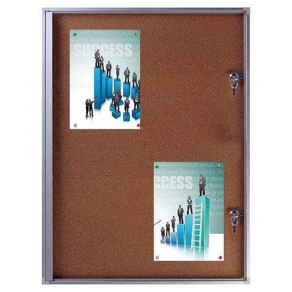 "4x(8.5"" x 11"") Cork Bulletin Board Aluminum Frame Indoor Use"