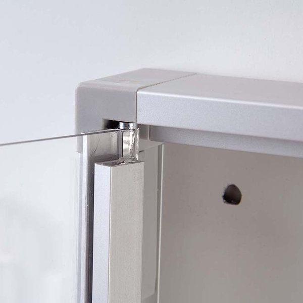 "4x(8.5"" x 11"") Magnetic Bulletin Board Aluminum Frame Indoor Use"