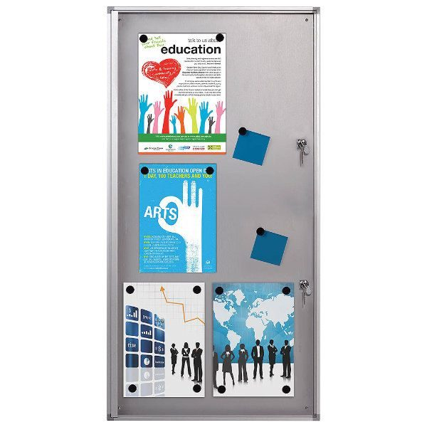 "6x(8.5"" x 11"") Magnetic Bulletin Board Aluminum Frame Indoor Use"
