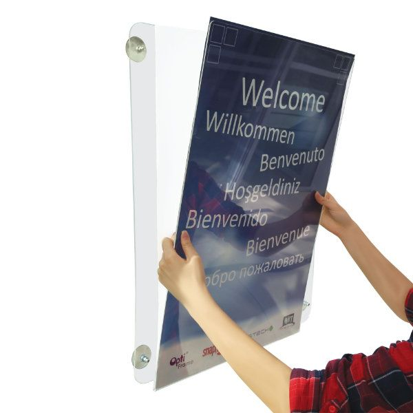 8 5 Quot W X 11 Quot H Acrylic Clear Sign Holder Portrait For Window