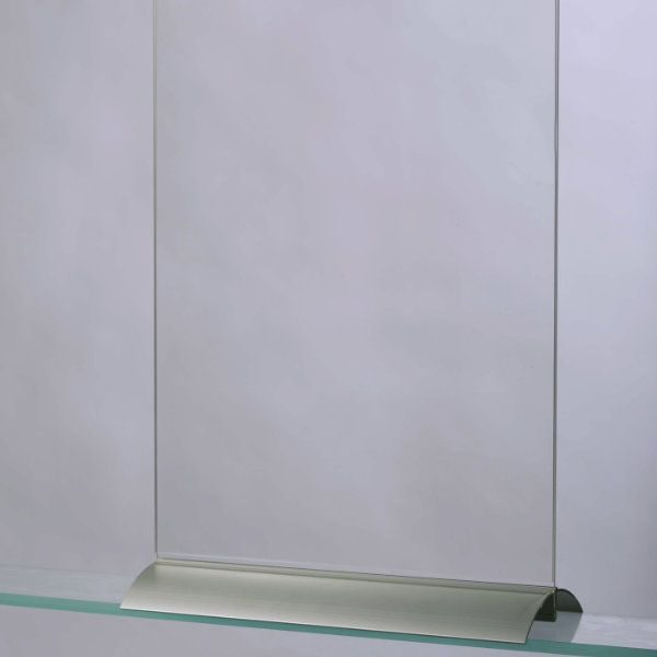 """8.5""""w x 11""""h Swing Wing Sign Holder Portrait - Base & Clear Acrylic"""